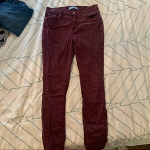 7fam 7 for all mankind b(air) burgundy jeans 27